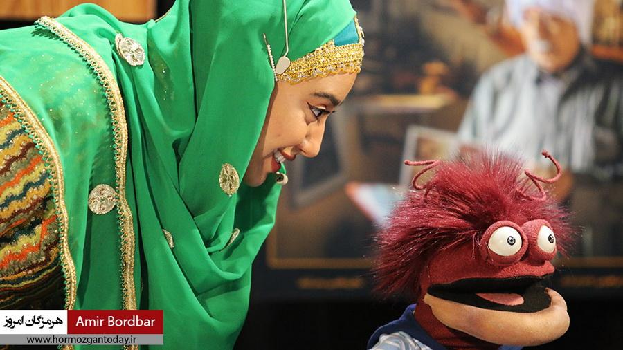 اجرای کودک عمه گلی و عموساسان و گارمزنگی در شب چهارم هفته هرمزگان